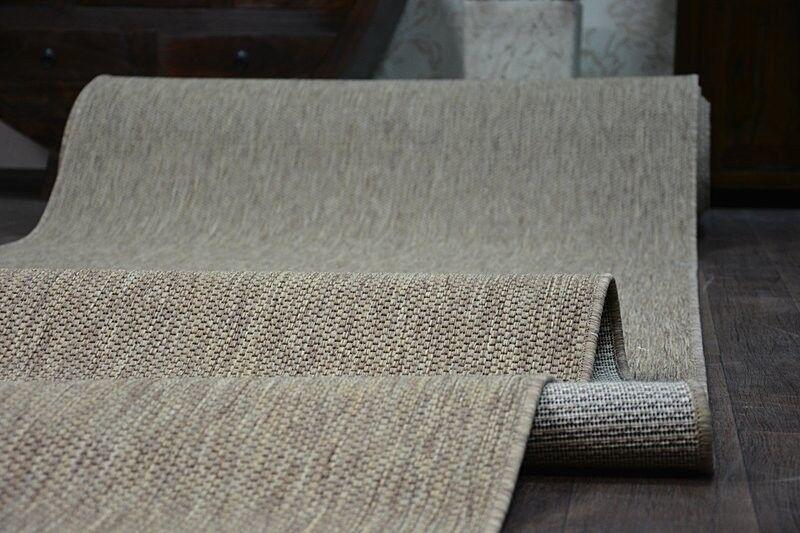 Coureur Tapis Sizal escaliers floorlux Café Plain Modern escaliers Sizal largeur 70,80,100,120cm long f28b30