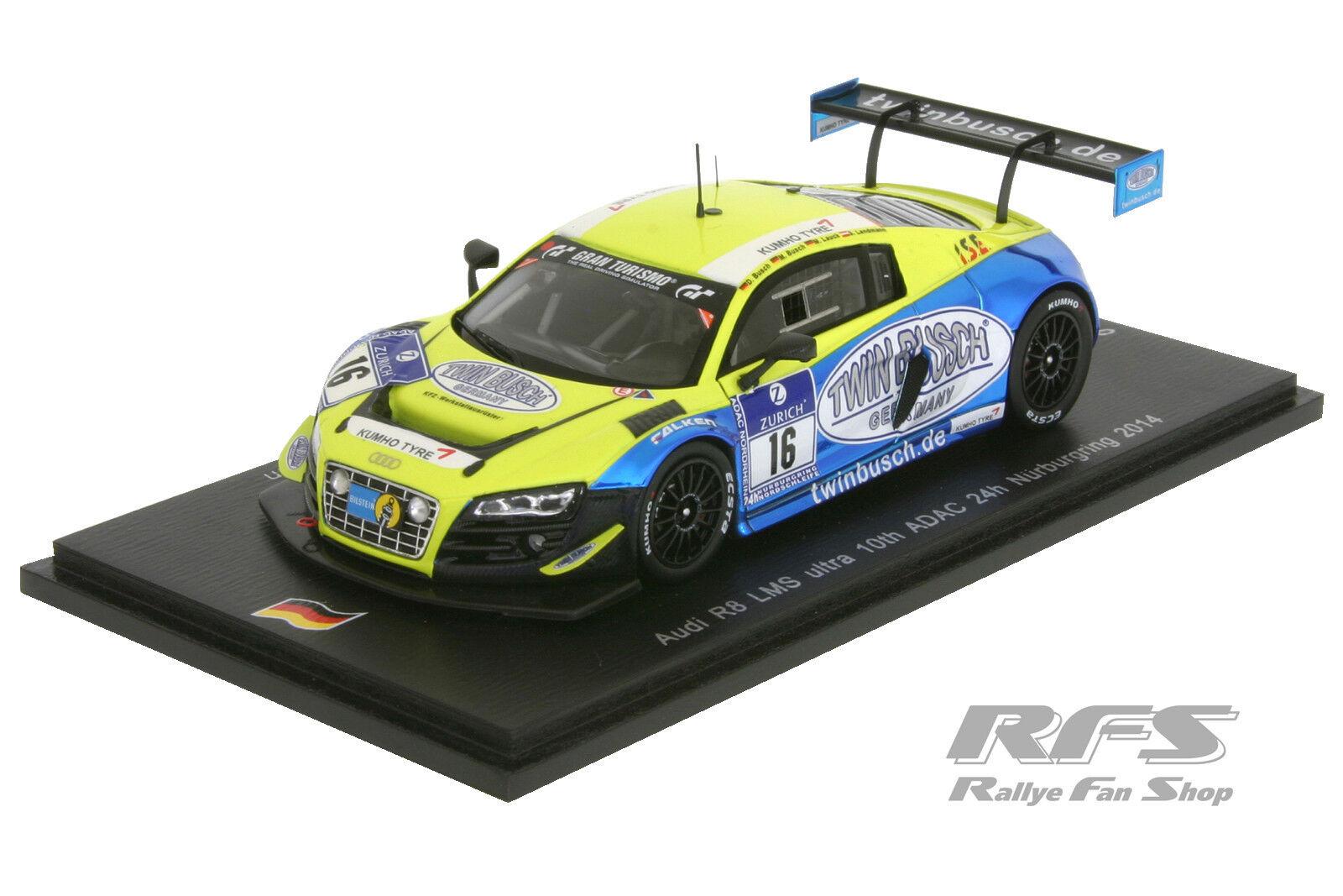 Audi R8 LMS ultra - Team Twin Busch - 24h Nürburgring 2014 - 1 43 Spark SG137