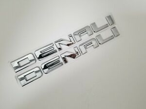 1 CHROME DENALI DOOR BADGE NAMEPLATE FIT GMC REAR TAILGATE EMBLEM NAME LETTERS