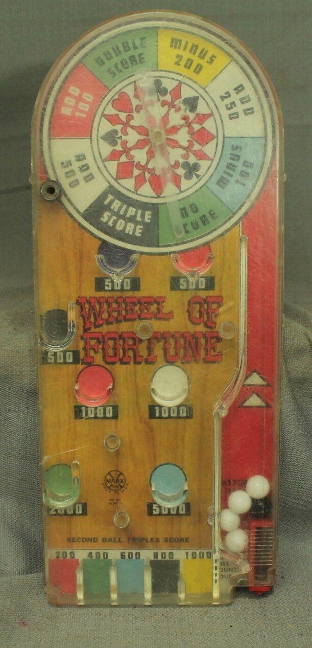 Viele 2 Vintage Spielzeug Pinball Pinball Pinball Spiele Rad von Winkende Skor Ball bda096