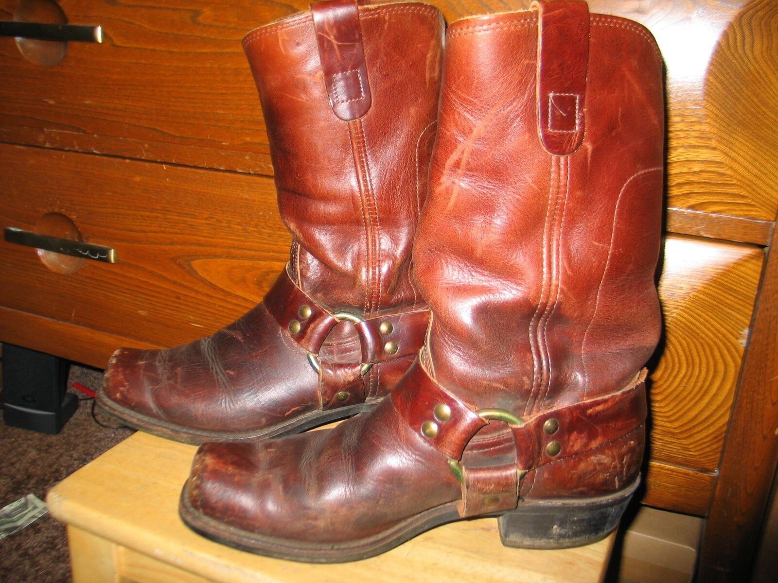 Workers Union Boot and shoes Workers Harness Leather Boots 9 Men Vintage