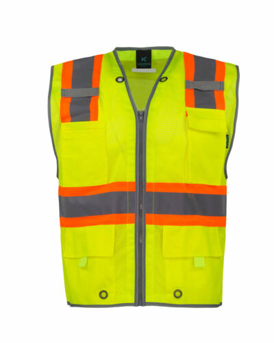 High Visibility Safety Vest Yellow Orange ANSI Class 2