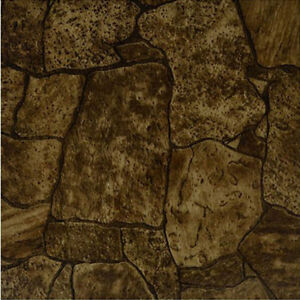 Image is loading Rustic-Stone-Vinyl-Tile-40-Pc-Adhesive-Kitchen-  sc 1 st  eBay & Rustic Stone Vinyl Tile 40 Pc Adhesive Kitchen Flooring - Actual 12 ...