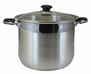 Concord 30 Qt Stainless Steel Stock Pot Heavy Stockpot