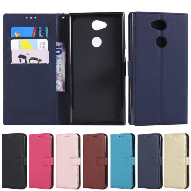 Slim Wallet Leather Flip Case Cover For Sony Xperia XZ1 XA2 L2 Z3 Z4 Z5 M4 M5 E5