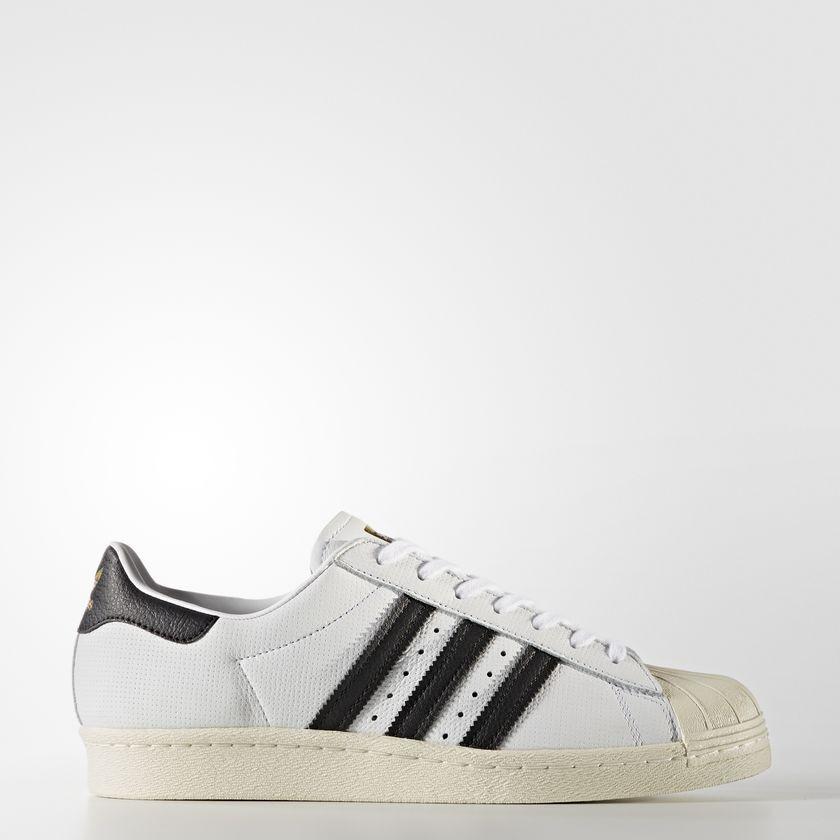 adidas superstar der 80er - jahre schuhe retrosneaker weiß - schwarz samba besondere bz0144 sz 8,5