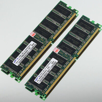 Samsung Low Density 2GB 2x 1GB DDR400 PC3200 400MHZ NON-ECC 184PIN DIMM memory
