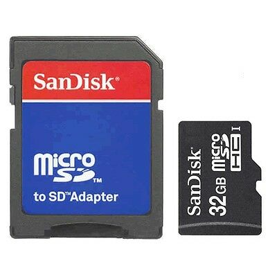 SanDisk 32GB Class 4 MicroSD/Micro SDHC/TF Flash Memory Card w/SD Adapter 32G