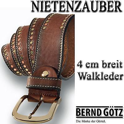 BERND GÖTZ / edler Jeansgürtel / Nietengürtel / 4 cm breit / 3 mm - Nappaleder