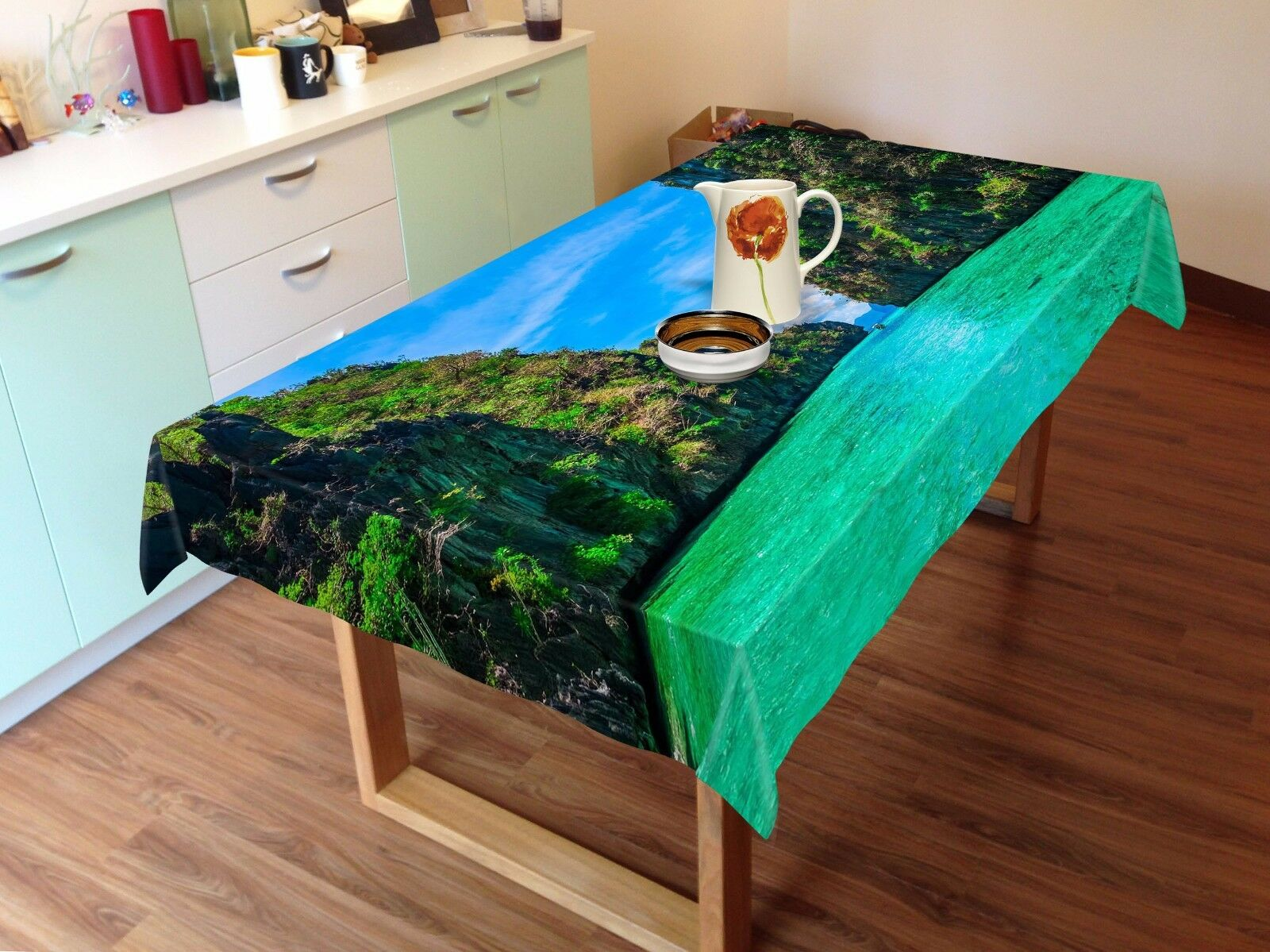 3D Hill lake33 Tablecloth Table Cover Cloth Birthday Party Event AJ WALLPAPER AU