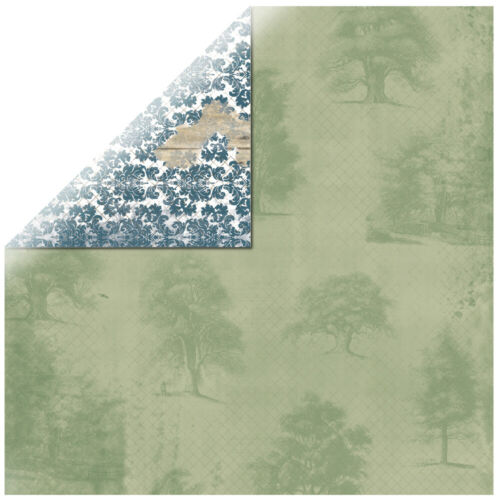 BoBunny 12x12 Scrapbooking paper Provence Collection,Breathtaking x 2 sheets
