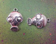 15 Gas Mask Bio Hazard Charm Steampunk Gothic Pendant Horror Cosplay Dr Who