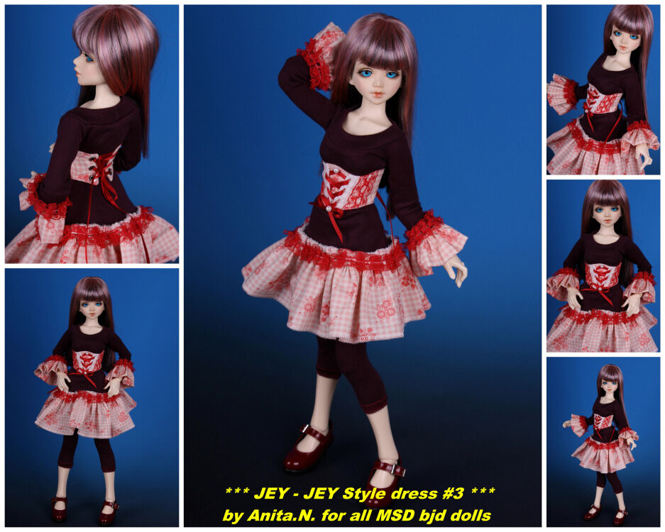 JEY-JEY style Rosa special 3pc.outfit  BJD doll MSD by Anita.N