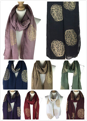 New In Women Ladies Embroidered Sequin Leaf Scarf Neckerchief Hijab Shawl