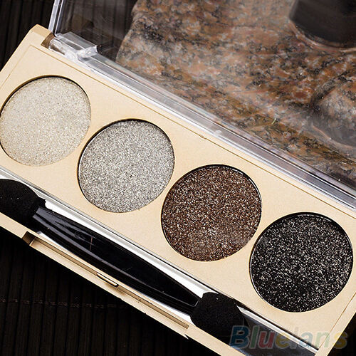 FABULOUS 4 COLORS SET MAKEUP COSMETIC PALETTE QUAD SMOKY SHIMMER EYE SHADOW