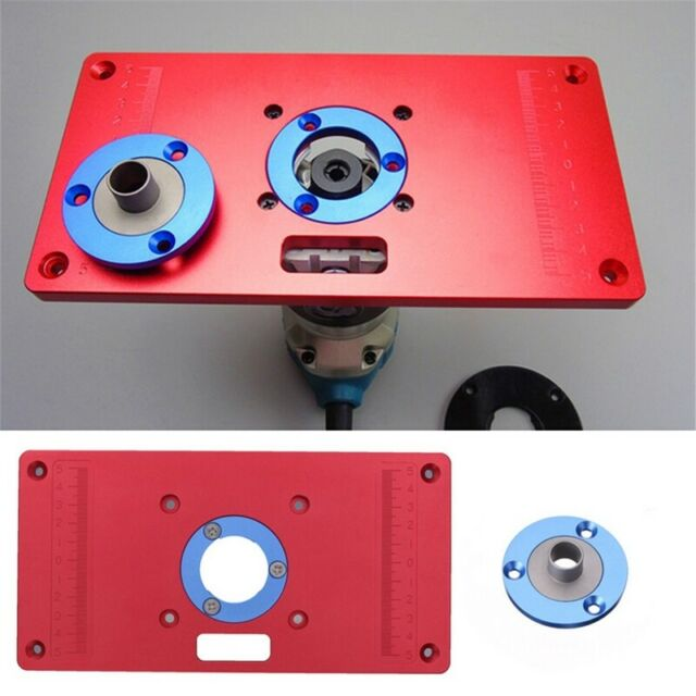 For Woodworking Bench Trimmer Tool Pro Aluminum Router Table Insert Plate Ring