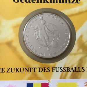10 EURO € - MÜNZE BRD 2011 Frauen-Fussball WM 2011 Stempelglanz Prägestätte HH