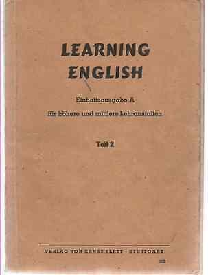 Learning English : Einheitsausgabe A Teil 2 Für Das 2 3 Lehrjahr 1949 Gut FüR Antipyretika Und Hals-Schnuller U