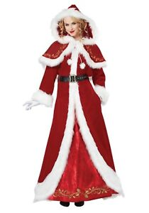 Details About California Costumes 01557 Adult Mrs Claus Deluxe Santa Claus Wife Costume S