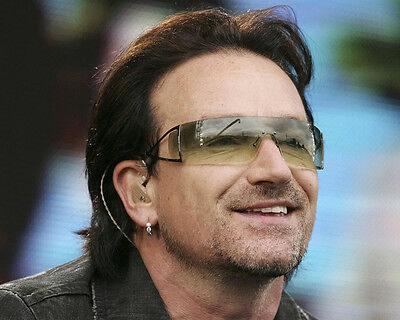BONO 8X10 PHOTO COOL PORTRAIT SUNGLASSES U2