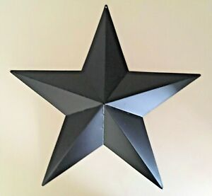 Primitive-Rustic-Country-Decor-3-5-8-or-12-inch-Barn-Star-Black-wall-hanging