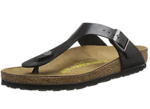 caac09f85c7 Birkenstock GIZEH Graceful Licorice BLACK 6 8 9 10 NORMAL EU 37 39 ...