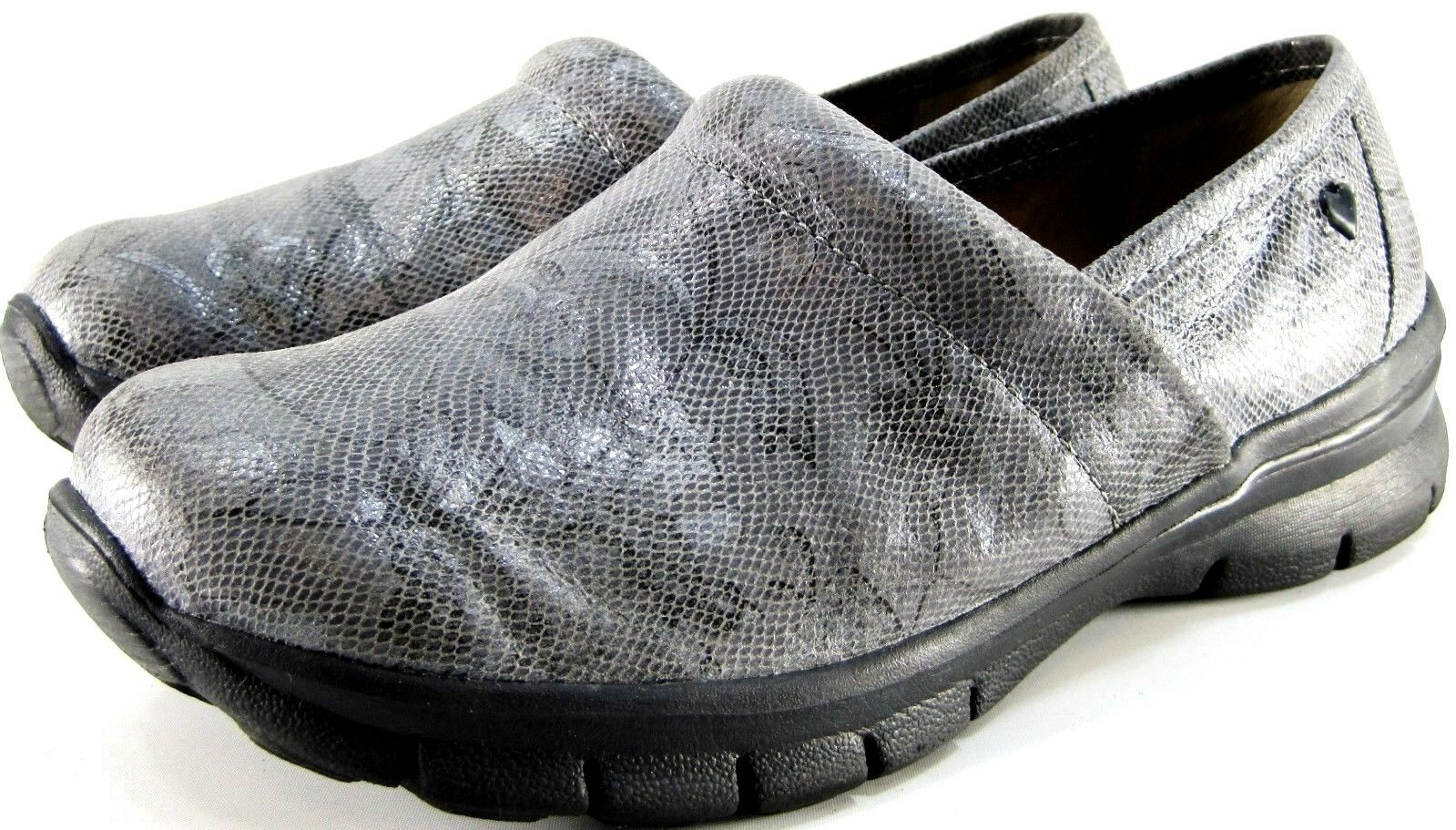 damen Leather Clogs Größe 8.5 Libby Libby Libby Reptile Leather Style 257683 Slip Resistant 27ffef