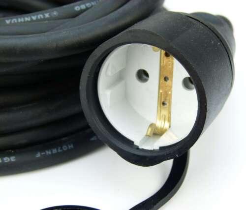 5x 7,5 m Verlängerungskabel für Außen Baustelle H07RN-F Schuko Kabel Stromkabel