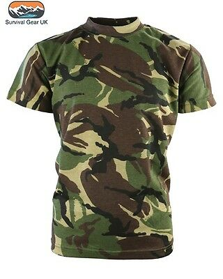 ENGLISH  HEDGEROW CAMO 12-13 YEARS BNWT KIDS BOYS CAMOUFLAGE T-SHIRT ARMY