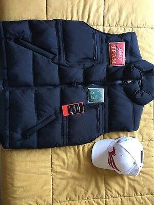 Amabile Gilet + Cappellino Assisi Endurance Lifestyle 2007-2009 Nuovi Con Etichette Bianchezza Pura