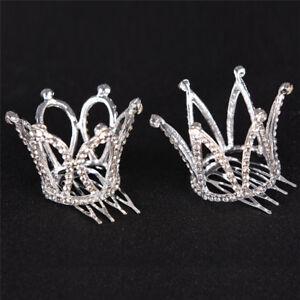 Lady-Girl-Mini-Rhinestone-Crown-Bridal-Tiara-Hair-Comb-Pin-Wedding-Party-TK