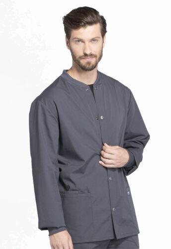 Cherokee Workwear WW360 PWT Pewter Men Warm-up Jacket Free Shipping