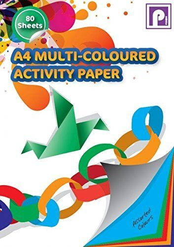 80shts Pennine A4 Multi-Coloured Art Paper