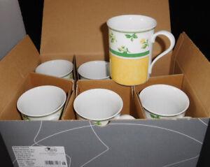 Hutschenreuther-Summerdream-Sun-6-Becher-mit-Henkel-Neu-amp-Ovp-1-A-Kaffeebecher