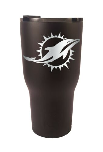 Tumbler Miami Dolphins RTIC Laser Engraved 20 or 30 oz