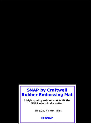 SNAP Die Cutter by Craftwell Rubber Embossing Mat SESNAP  2