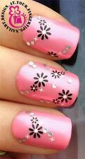 NAIL ART STICKERS DECALS TRANSFERS FLOWER DECORATION STONE GEMS FRENCH TIPS #530