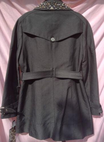 coat Trench et Edelman Sam Taille Msrp 300 cristal N col cristal Noir 5wqE77TX