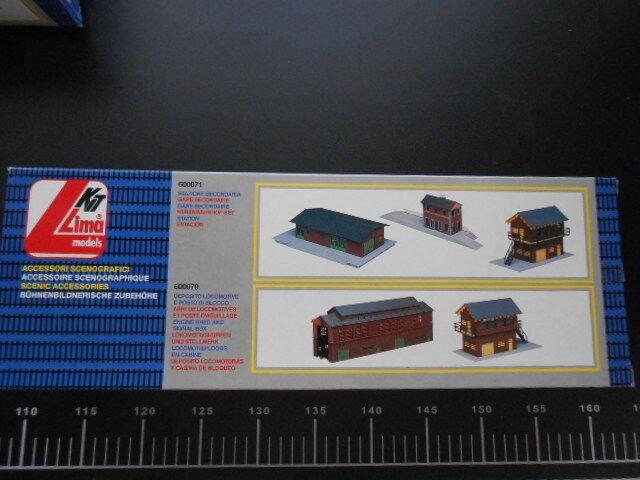 Train Depot Lima HO Scale 1 87 COD. 600070 Vintage