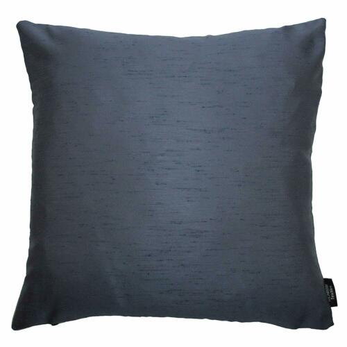 McAlister Textiles Rocco2 Colour Faux Silk Pale Navy Cushions