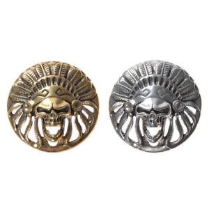1-Pc-Brass-Skull-Rivet-Stud-Punk-Screw-Back-Decor-Hardware-Leather-Craft