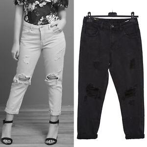 Jeans donna pantaloni boyfriend vissuti consumati STRAPPATI risvolto nuovi H906