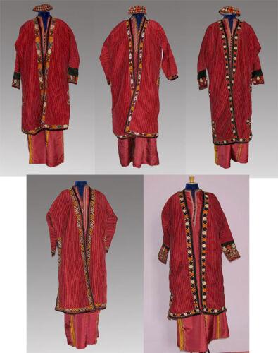 National Turkmen Women Hand made Silk Clothes in Variations