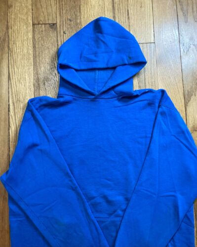 Distressed Vtg Russell Athletic Blank Blue Hoodie