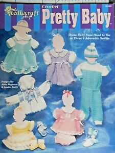 Crochet-Pretty-Baby-6-Adorable-Outfits-Patterns-The-Needlecraft-Shop-Rare