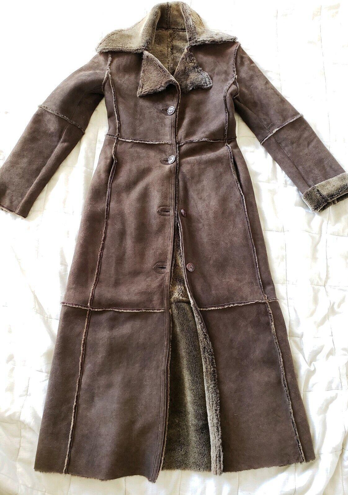 Workshop NY full length shearling coat lightweigh… - image 10