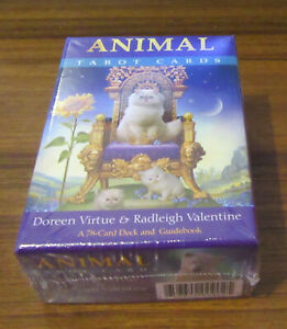 Animal Tarot Cards : A 78 Card Deck And Guidebook by Doreen Virtue (Card Deck, 2