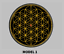 """Flower of life  7/"""" Round  Patch Embroidered customized color"""