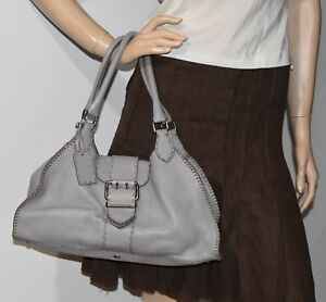 Image Is Loading Fendi Eria Leather Sporty Bag Made In Italy