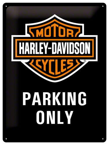 Harley Parking Only 30x40 cm 3D Blechschild Davidson !!